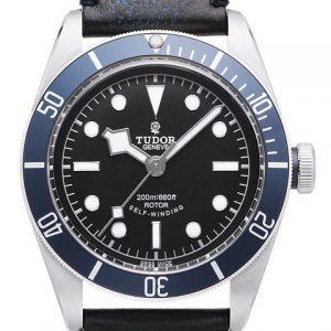 帝舵-【ZF完美版】帝舵HERITAGE BLACK BAY系列小蓝花79220B皮革表带腕表