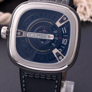 七个星期五-◆NOOB完美版◆高仿 七个星期五 SevenFriday右手款手表 蓝面皮带 西铁城8215机芯