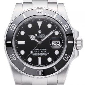 劳力士116610LN-【N厂V10版】高仿劳力士Rolex潜航者型腕表116610LN 黑水鬼