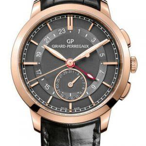 芝柏49544-52-231-BB60-Girard-Perregaux芝柏男表系列49544-52-231-BB60双时区玫瑰金机械腕表