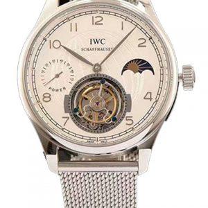 万国-IWC万国葡萄牙系列精钢/玫瑰金陀飞轮腕表 米兰钢带